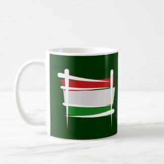Hungary Brush Flag Coffee Mug
