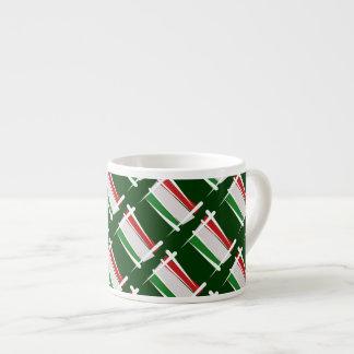 Hungary Brush Flag Espresso Cup