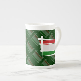 Hungary Brush Flag Tea Cup