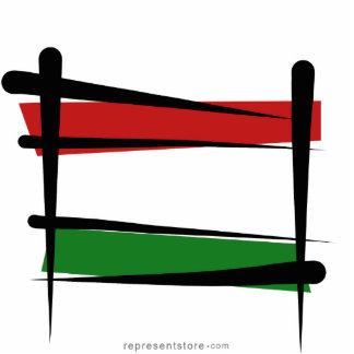 Hungary Brush Flag Statuette