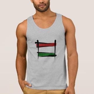 Hungary Brush Flag Tank Top