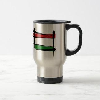 Hungary Brush Flag Travel Mug
