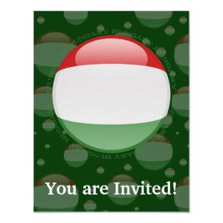 Hungary Bubble Flag Card