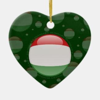 Hungary Bubble Flag Ceramic Ornament