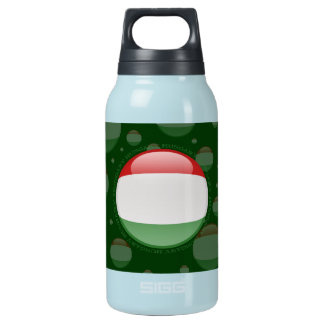 Hungary Bubble Flag Insulated Water Bottle