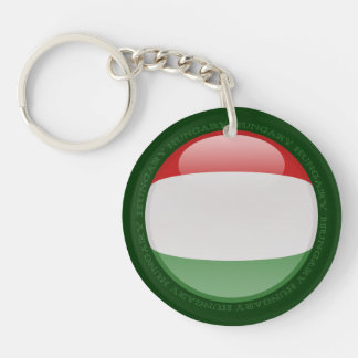 Hungary Bubble Flag Keychain