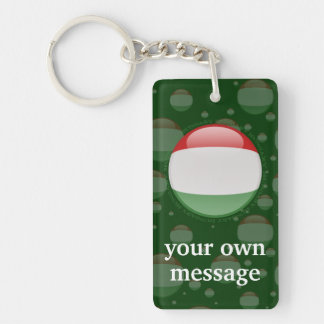 Hungary Bubble Flag Keychain