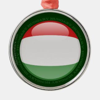 Hungary Bubble Flag Metal Ornament