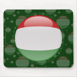 Hungary Bubble Flag Mouse Pad
