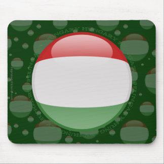 Hungary Bubble Flag Mouse Pad