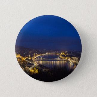 Hungary Budapest at night panorama Button