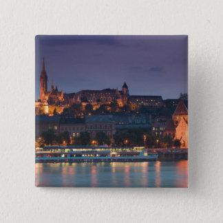 HUNGARY, Budapest: Castle Hill, Calvinist Church Button