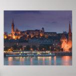 HUNGARY, Budapest: Castle Hill, Calvinist Church Poster