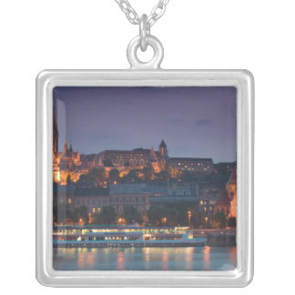 HUNGARY, Budapest: Castle Hill, Calvinist Church Silver Plated Necklace