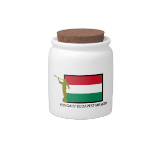 HUNGARY BUDAPEST MISSION LDS CTR CANDY JARS