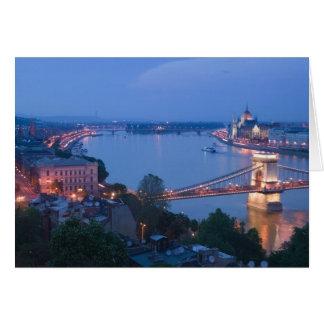 HUNGARY, Budapest: Szechenyi (Chain) Bridge, 2 Card
