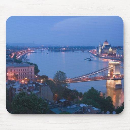 HUNGARY, Budapest: Szechenyi (Chain) Bridge, 2 Mousepads