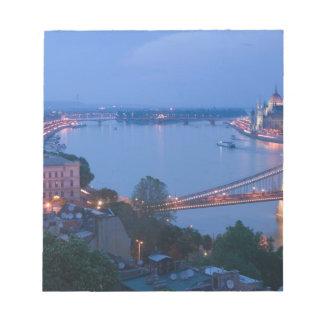 HUNGARY, Budapest: Szechenyi (Chain) Bridge, 2 Notepad