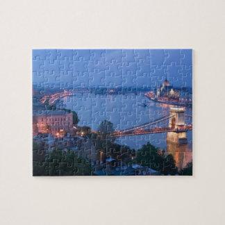 HUNGARY, Budapest: Szechenyi (Chain) Bridge, 2 Jigsaw Puzzle