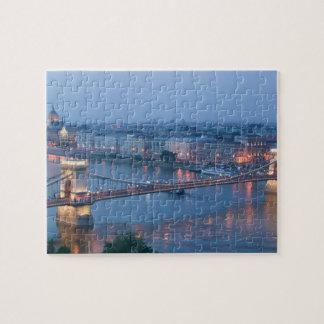 HUNGARY, Budapest: Szechenyi (Chain) Bridge, 3 Jigsaw Puzzle