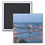 HUNGARY, Budapest: Szechenyi (Chain) Bridge, 3 Refrigerator Magnet