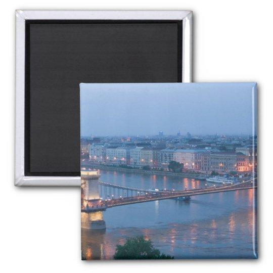 HUNGARY, Budapest: Szechenyi (Chain) Bridge, 3 Magnet