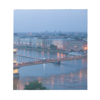 HUNGARY, Budapest: Szechenyi (Chain) Bridge, 3 Notepad