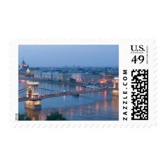 HUNGARY, Budapest: Szechenyi (Chain) Bridge, 3 Stamps
