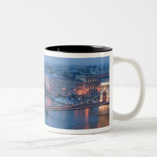 HUNGARY, Budapest: Szechenyi (Chain) Bridge, 3 Two-Tone Coffee Mug