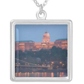HUNGARY, Budapest: Szechenyi (Chain) Bridge, Silver Plated Necklace