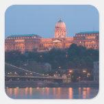 HUNGARY, Budapest: Szechenyi (Chain) Bridge, Square Sticker