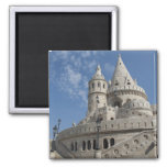 Hungary, capital city of Budapest. Buda, Castle 2 2 Inch Square Magnet