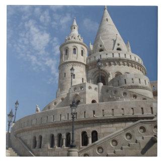 Hungary, capital city of Budapest. Buda, Castle 2 Large Square Tile