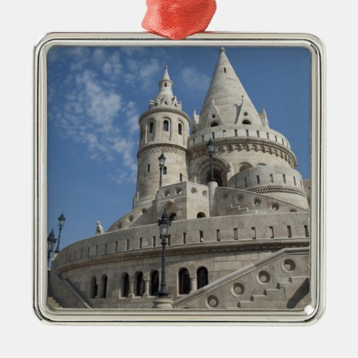 Hungary, capital city of Budapest. Buda, Castle 2 Square Metal Christmas Ornament