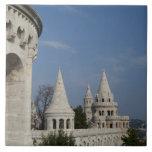 Hungary, capital city of Budapest. Buda, Castle Large Square Tile