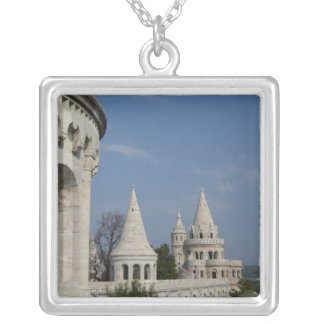 Hungary, capital city of Budapest. Buda, Castle Silver Plated Necklace