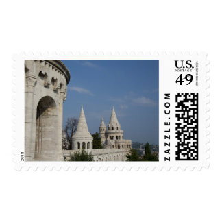 Hungary, capital city of Budapest. Buda, Castle Stamp