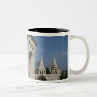 Hungary, capital city of Budapest. Buda, Castle Two-Tone Coffee Mug