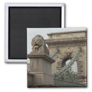 Hungary, capital city of Budapest. Historic 2 2 Inch Square Magnet