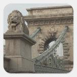 Hungary, capital city of Budapest. Historic 2 Square Sticker