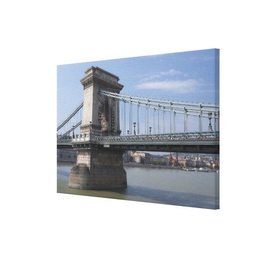 Hungary, capital city of Budapest. Historic 3 Canvas Print