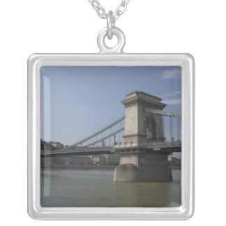 Hungary, capital city of Budapest. Historic 3 Square Pendant Necklace
