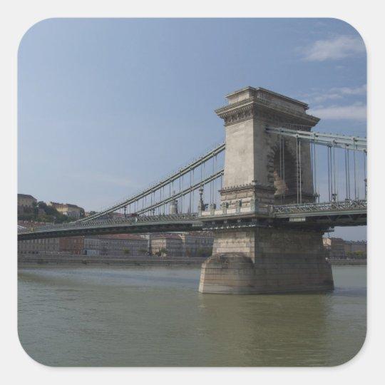 Hungary, capital city of Budapest. Historic 3 Square Sticker