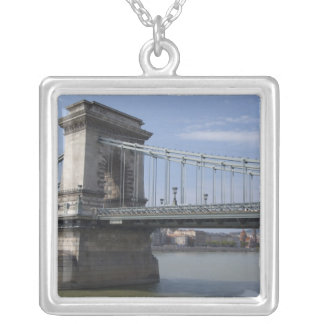 Hungary, capital city of Budapest. Historic Square Pendant Necklace
