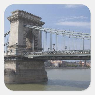 Hungary, capital city of Budapest. Historic Sticker