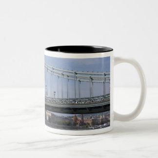 Hungary, capital city of Budapest. Historic Two-Tone Coffee Mug