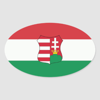 Hungary Car Oval Stickers
