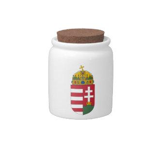 Hungary Coat of Arms Candy Jar