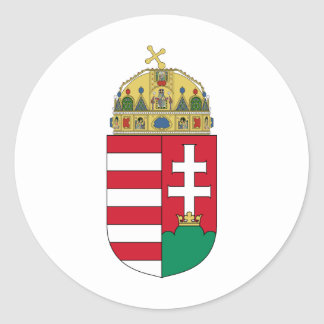 Hungary coat of arms classic round sticker