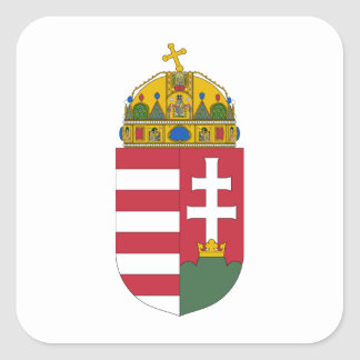 Hungary Coat of Arms Square Sticker